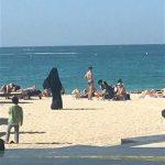 Dubai Marina Beach Tourists