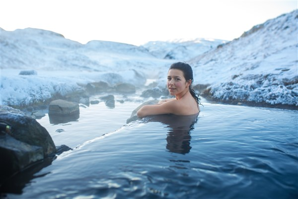 Iceland has lots of hot springs to steam you up