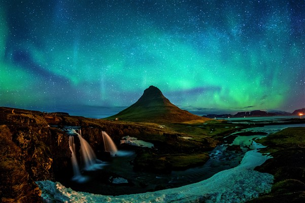 You can see the Aurora Borealis in Iceland